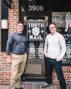 Tim Murphy and Nick Lundquist of Tooth X Nail in Edina, MN